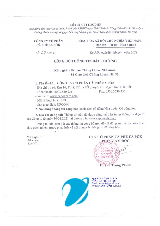 CV CBTT DANH SACH CO DONG NHA NUOC CO DONG LON 1